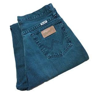 Vintage RARE Green Teal Wrangler Mom Jeans Booty